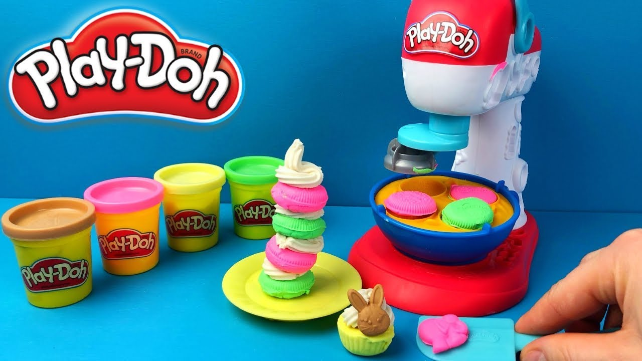 Play Doh Kitchen Spinning Treats Mixing New Playset Youtube
