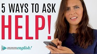 How To Ask for Help in English  |  Common Expressions #spon
