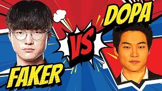 FAKER vs DOPA BEST OF 3 - Who Wins?   Skill Capped