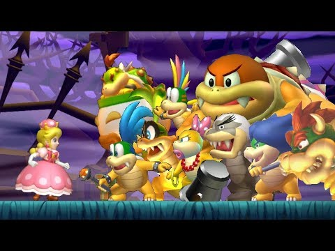 New Super Mario Bros U Deluxe - All Bosses (No Damage)