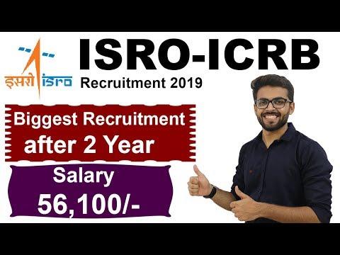 ISRO-ICRB Recruitment 2019 | Salary : 56,100 | Scientist-Engineer | BE/Btech |  Latest Job 2019