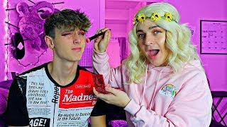 DOING MY BOYFRIENDS MAKEUP *2018 EDITION*