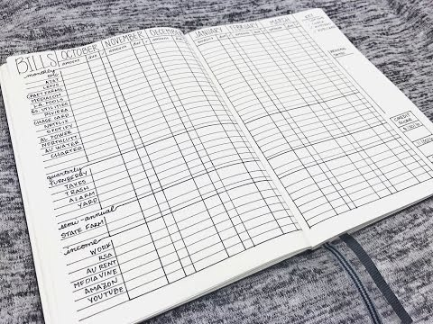 Bullet Journal Bills, Income & Finance Tracker