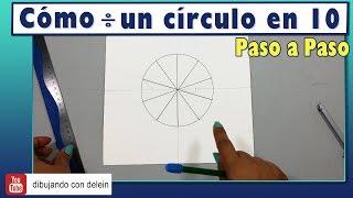 Cómo dividir un circulo en 10 partes iguales, Técnica  ideal para diseñar tus propios Mandalas