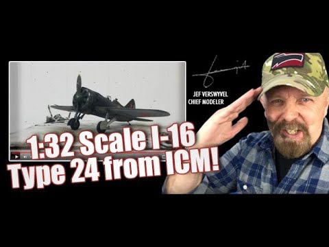 1:32 Scale I-16 Type 24 from ICM - Quick-Build Series