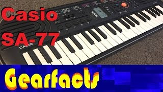 Casio SA-77 kids keyboard demo