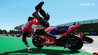 MotoGP 21 - Crash Compilation #10 (PC UHD) [4K60FPS]