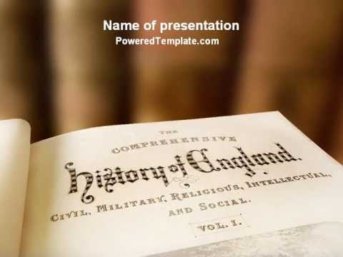 Free History Of England Powerpoint Template By PoweredtemplateCom