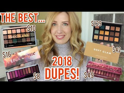 THE BEST PALETTE DUPES 2018   11 HIGH-END Palettes, Soft Glam, Norvina, Born to Run, ND Gold + MORE!
