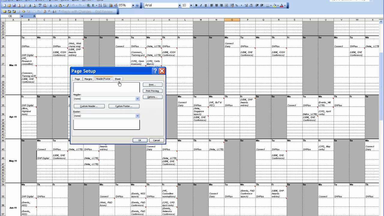 Word - Page setup and printing