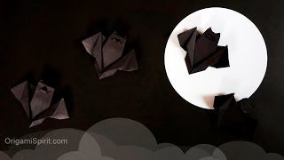 Origami Bat for Halloween Easy and Fast: : Murciélago