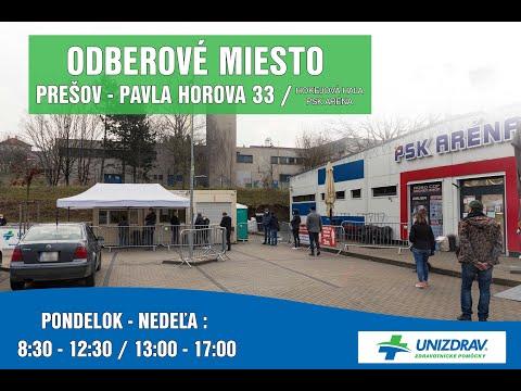 Prešov Mobilné odberové miesto - MOM