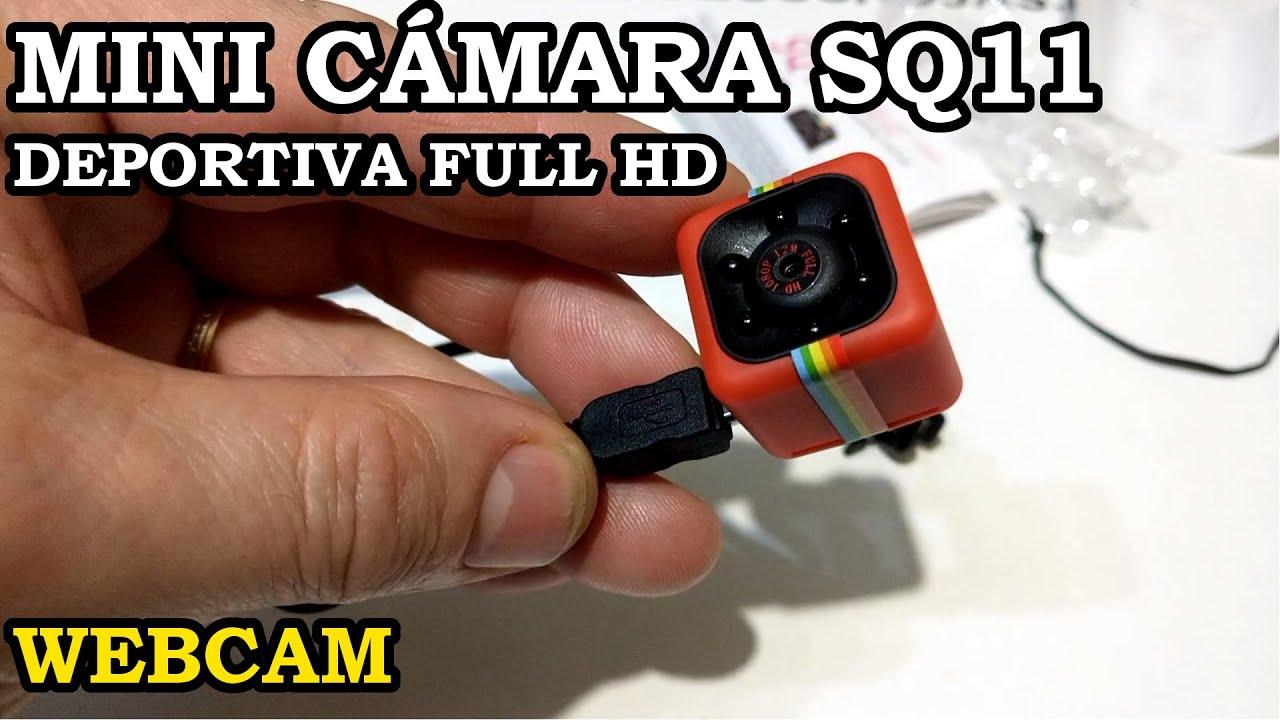 Mini Cámara Deportiva Usb Sq11 Full Hd Webcam Unboxing Y Pruebas 244 Youtube