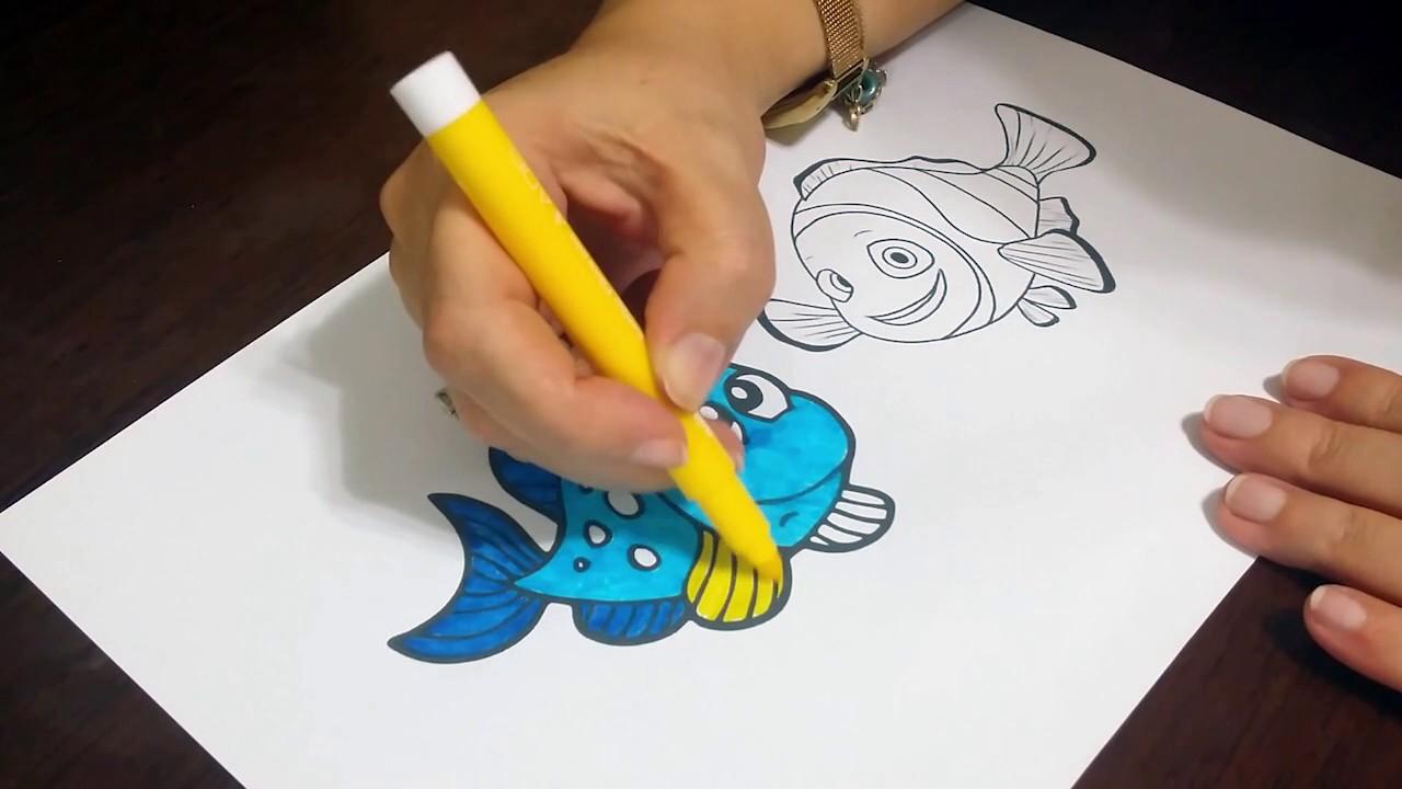 Kayıp Balık Nemo Boyama Sayfası çocuklar Için Eğlenceli Videolar