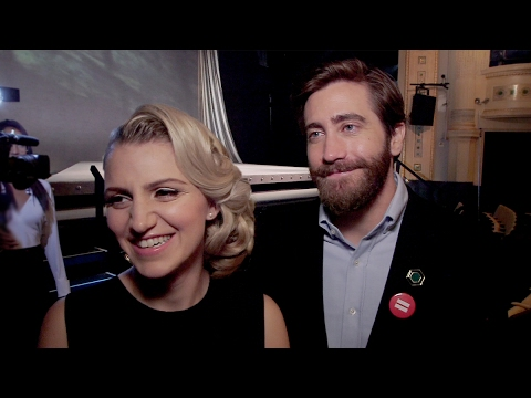 Jake Gyllenhaal and Annaleigh Ashford on Sunday in the Park at Broadway's New Theater