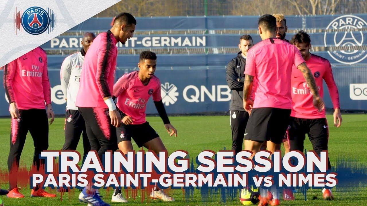 Training Session Paris Saint Germain Vs Nimes Youtube