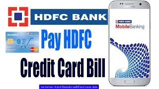 How to pay HDFC Credit card bill | HDFC Bank app