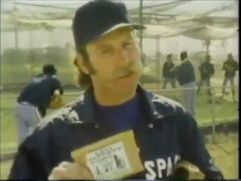 1979 Sparky Lyle Texas Rangers Levi Garrett Chewing Tobacco Commercial