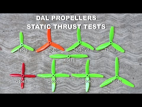 New DAL Propellers Static Thrust Tests - YouTube