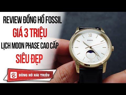 Review đồng Hồ Fossil Giá 3 Triệu Lịch Tuần Trăng Cực đẹp