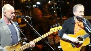 Paul Simon and Sting Live 2014 =] Brand New Day - Boy in the Bubble - Fields of Gold [=