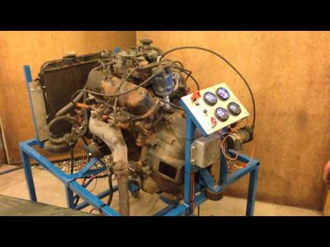 Ford Cologne V6 homemade engine TestStand