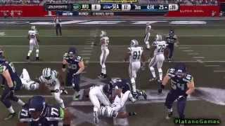 NFL Super Bowl XLIX - Seattle Seahawks vs New York Jets - 2nd Half - Madden 15 PS4 - HD