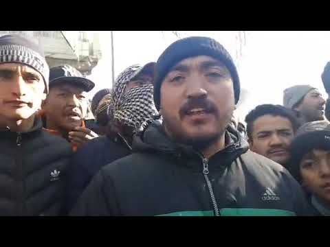 Kargil Live: People protest against State and district government for untimely Zojjila Closure. ( 2)
