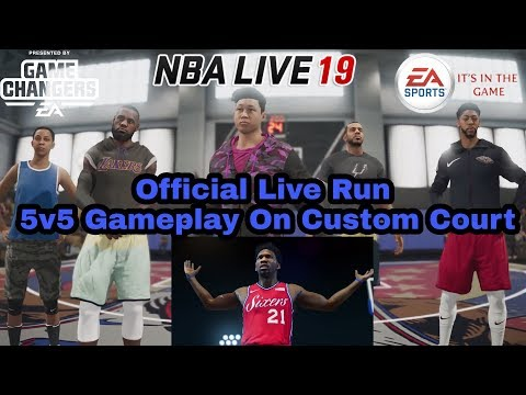 Nba Live 19 Official 5v5 Gameplay On The Joel Embiid Court