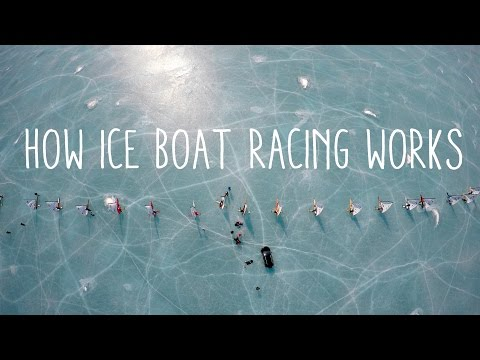 How does ice boat racing work?