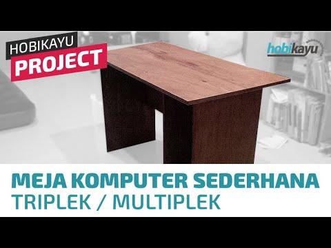 Diy Simple Plywood Computer Desk