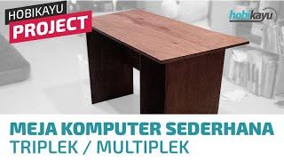 Video DIY Simple Plywood Computer Desk download MP3, 3GP, MP4, WEBM, AVI, FLV Mei 2018
