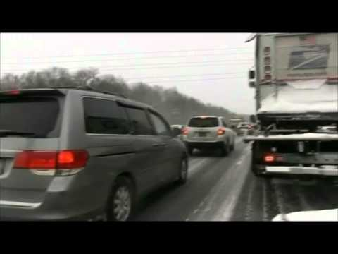 BBC News   Boston battles yet more snow
