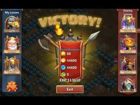 Castle Clash 3 Flame Insane Dungeon 4-10 F2P