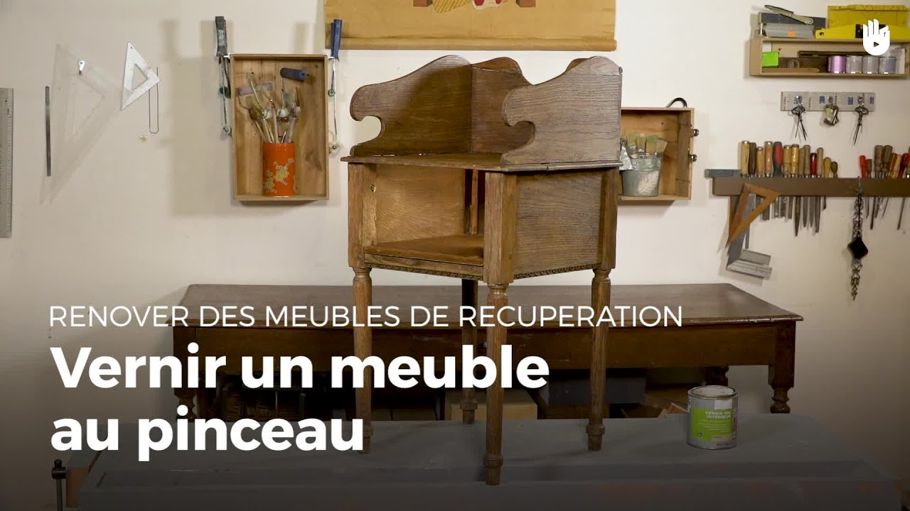vernir un meuble r novation de meubles youtube. Black Bedroom Furniture Sets. Home Design Ideas