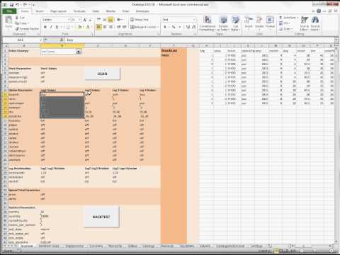 Scan and Backtest Option Strategies in Excel with the ORATS API