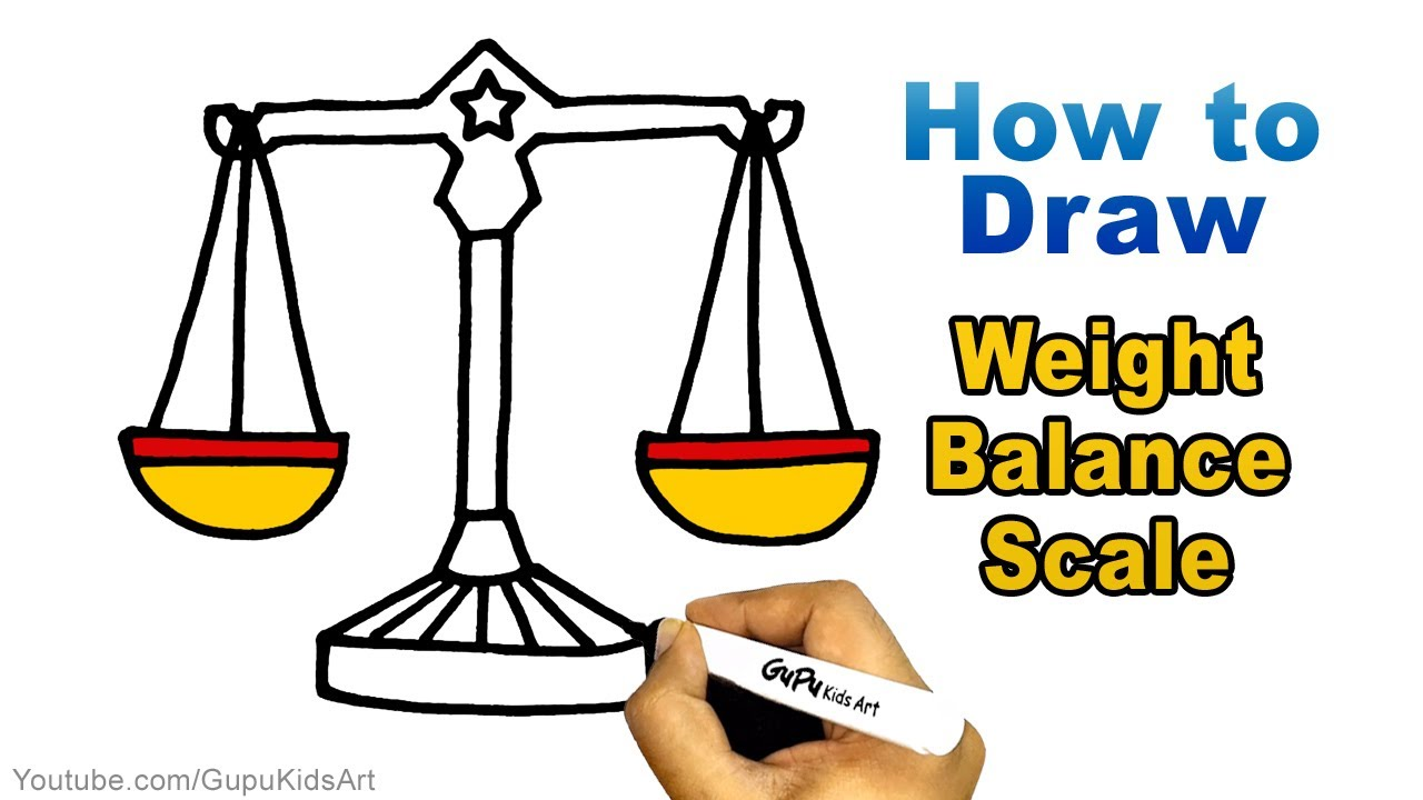 How To Draw Weighing Machine