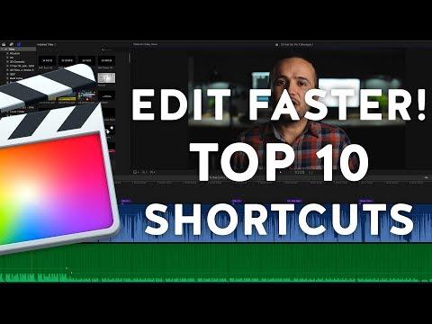 Edit Faster! Top 10 Final Cut Pro X Keyboard Shortcuts
