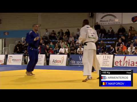 Open Judo Visé 2017 Final  -100kg Nikiforov-Armenteros