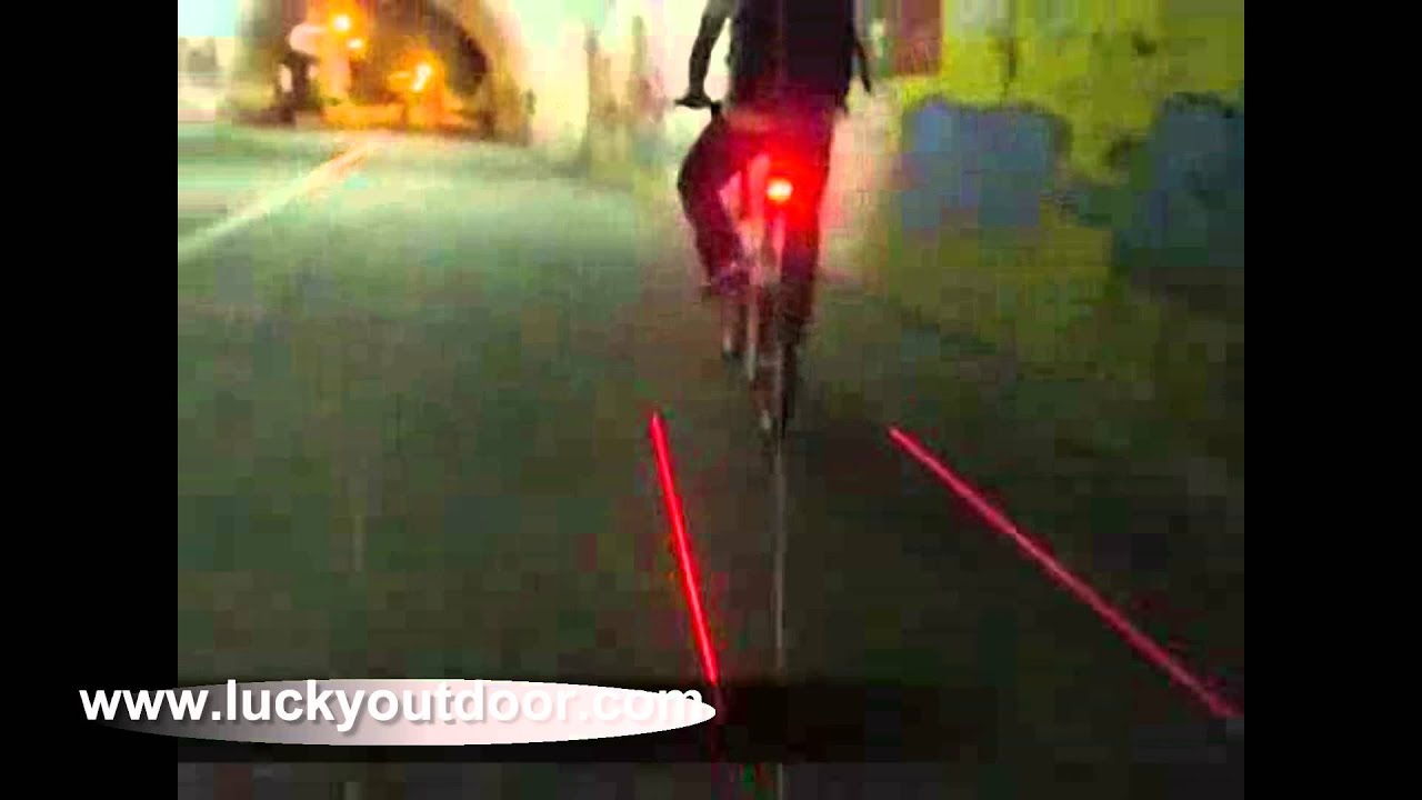 Diamond Shaped Safety Laser Led Bike Tail Light Youtube