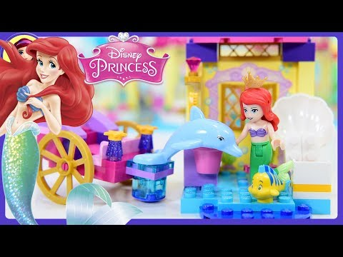Lego Disney Princess Junior Ariel's Dolphin Carriage Build Review Silly Play Kids Toys
