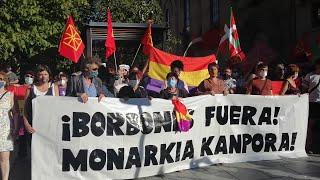 Concentración en Pamplona para pedir el fin de la monarquía