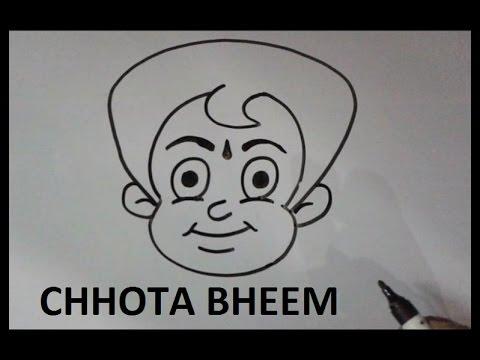 how to draw chhota bheem