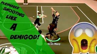 #NBA 2K17 Playmaker Shooting Like A Demigod My PARK!!  (Mini Mixtape)