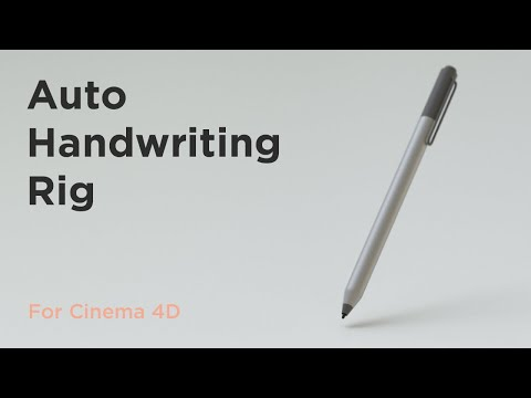 Auto Handwriting Rig for Cinema 4D - aescripts + aeplugins