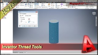 Inventor Tutorial How To Use Thread Tools
