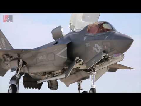 Самолет F 35  в HD  видео, взлет,  вертикальная посадка.  F 35  In HD,  Landing, Take Off