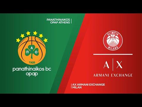Panathinaikos OPAP Athens - AX Armani Exchange Milan Highlights | EuroLeague, RS Round 33