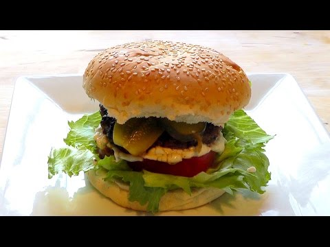 Beef Burger recipe How to Make Hamburger BBQ Food