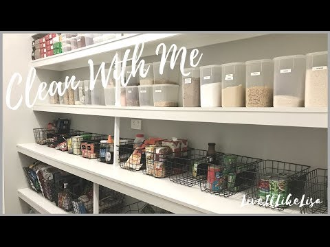 CLEAN WITH ME | Speed Clean & Re-Organise | PANTRY